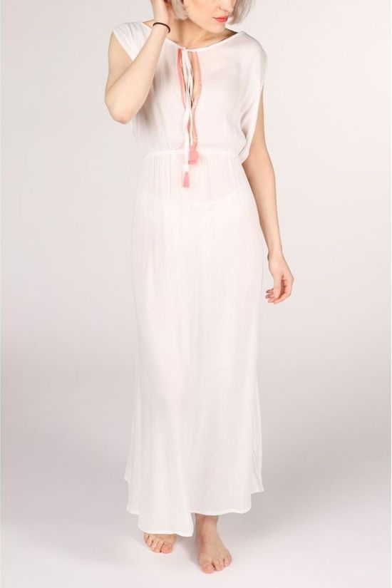 Happy Few Robe Robe Longue Blanc Cassé