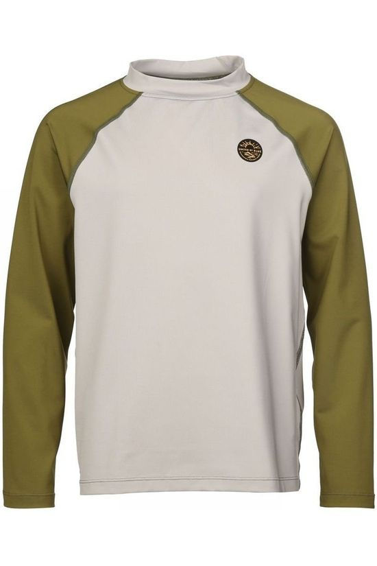 United By Blue Kids T-Shirt Rash Guard light grey/mid khaki