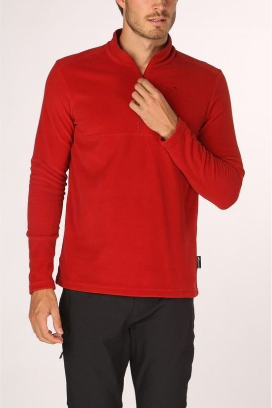 Jack Wolfskin Fleece Arco Half-Zip Middenrood