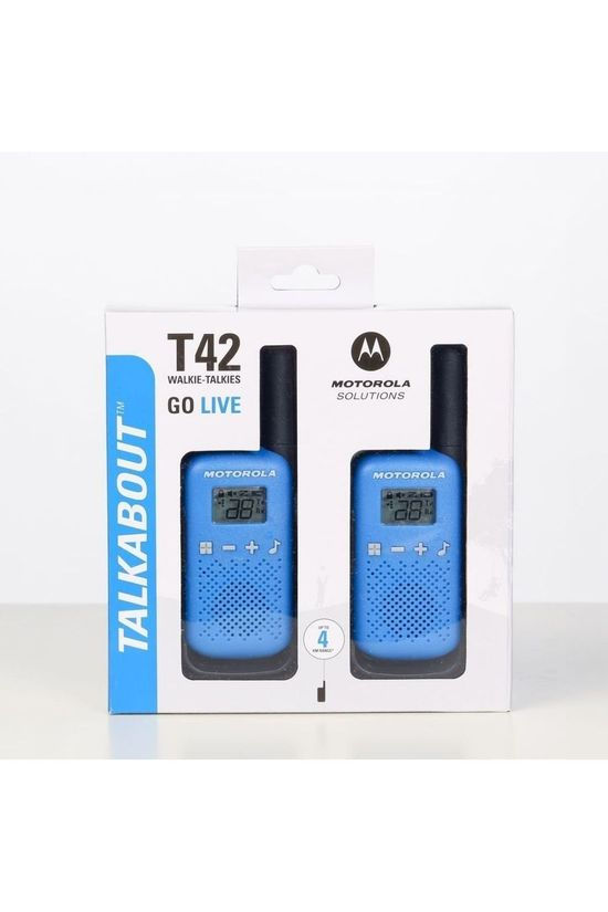 Motorola Walkie Talkie Talkabout T42 Blue Twin Pack mid blue/black