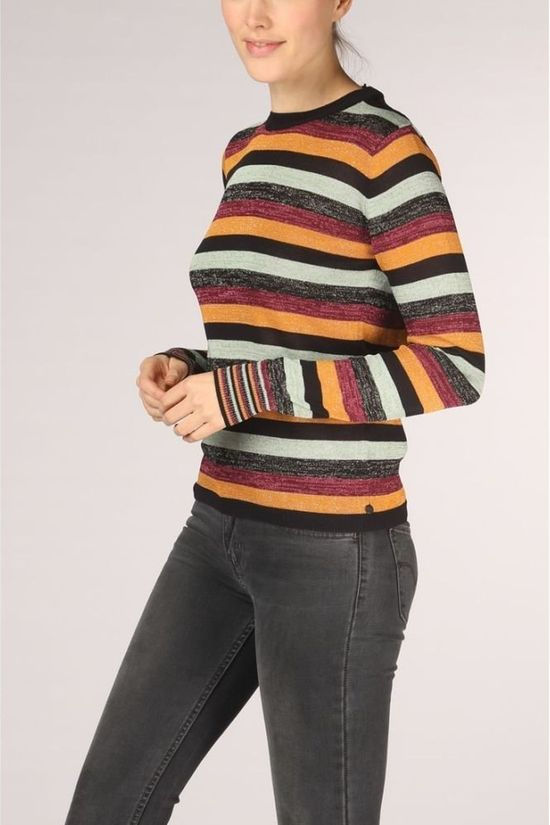 Maison Scotch Pullover 153217 black/orange