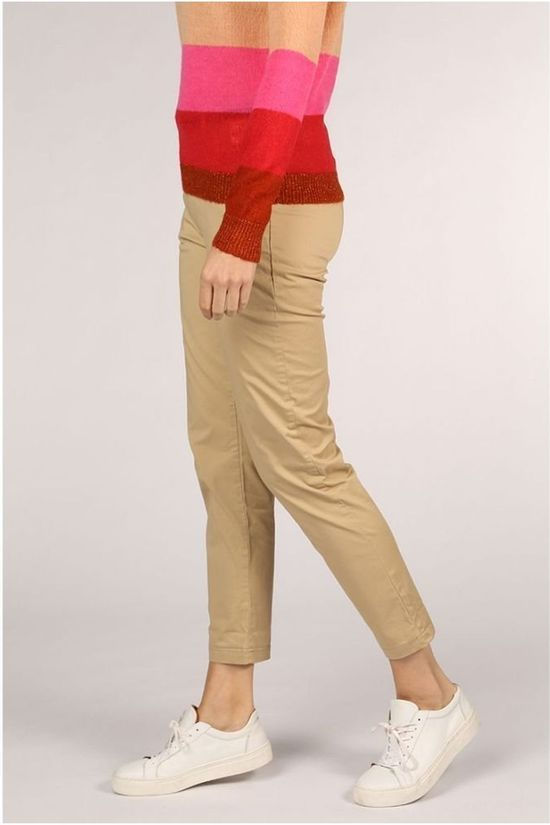 Maison Scotch Trousers 152612 Sand Brown
