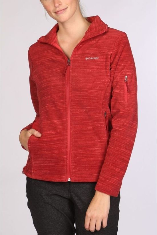 Columbia Fleece Fast Trek Printed Donkerrood