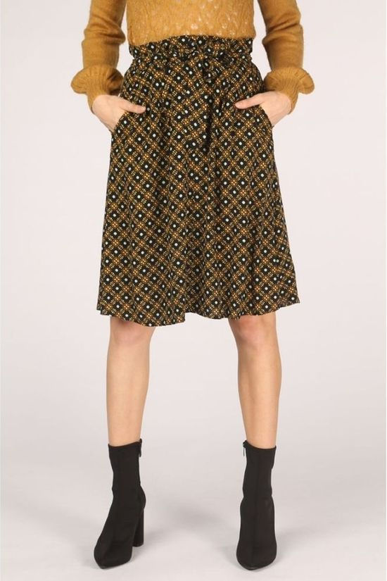 King Louie Skirt Ava Square Dance Black/Assorted / Mixed