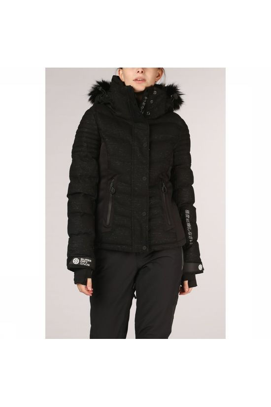 Superdry Coat Luxe Snow Puffer black/dark grey