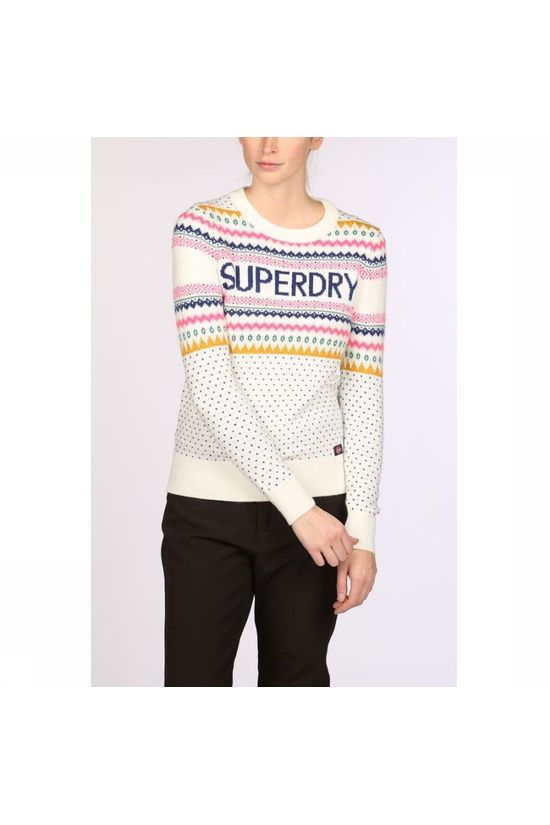 Superdry Pullover Oslo Fairisle Jumper Off White/Assorted / Mixed