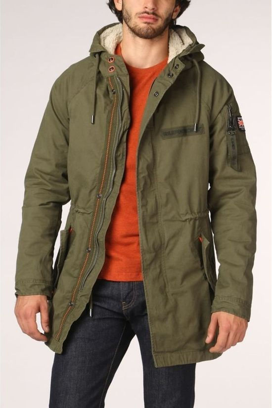 Superdry Jas Winter Aviator Parka Donkerkaki