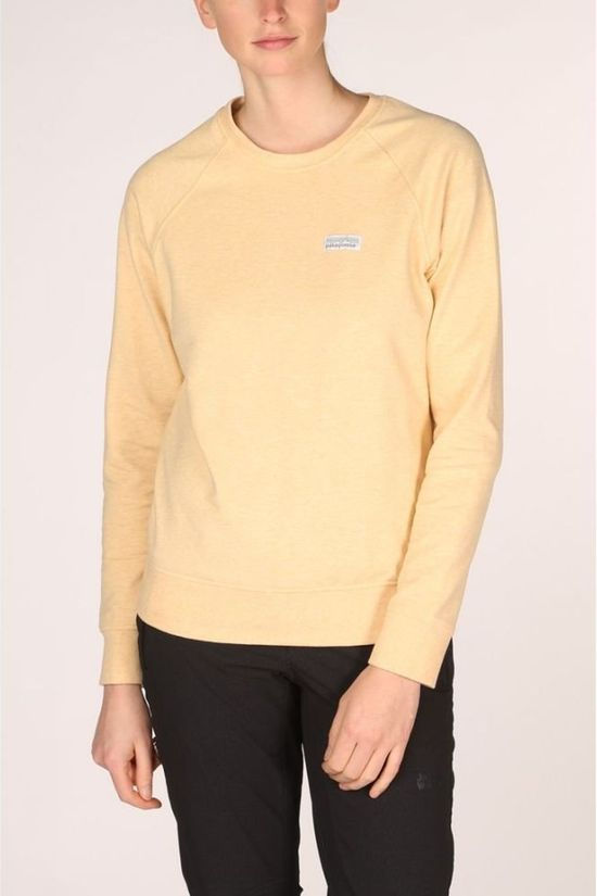 Patagonia Pullover P-6 Label Ahnya Sweater light yellow