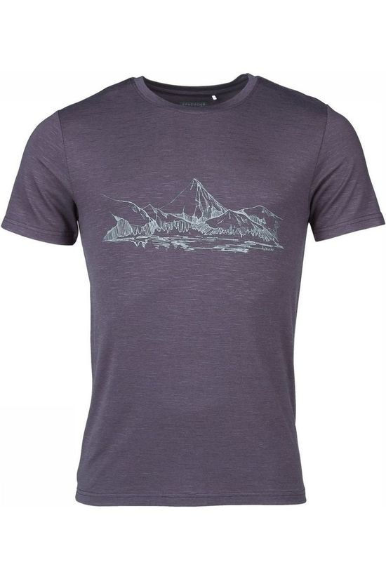 Ayacucho T-Shirt Mountain Lake Am Gris Moyen