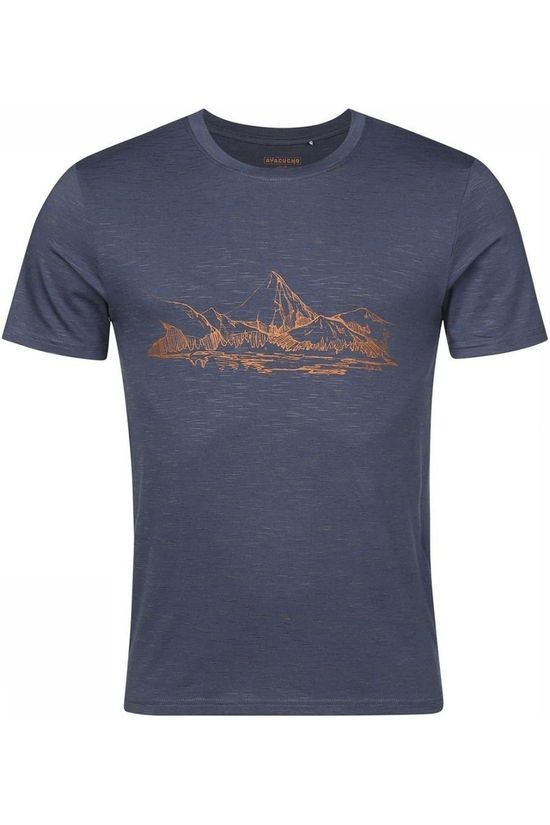Ayacucho T-Shirt Mountain Lake Am Marineblauw