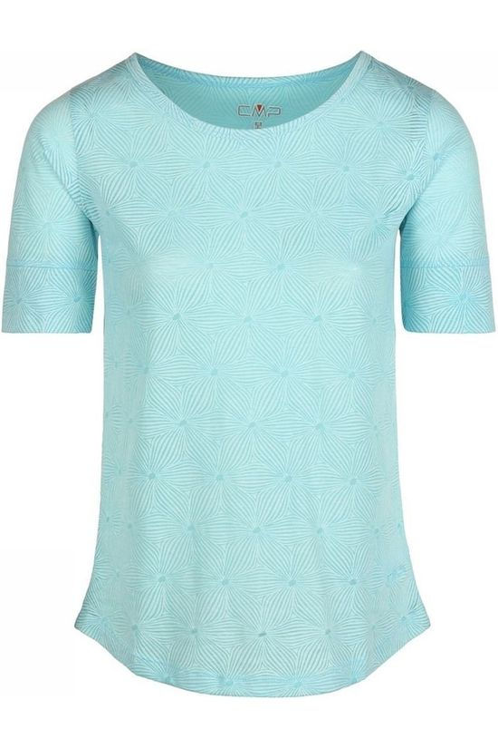 CMP T-Shirt Unlimitech Print light blue