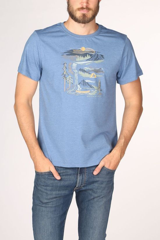 United by Blue T-Shirt 55/45 River Bend Ss blue