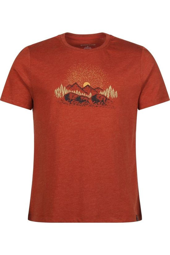 United by Blue T-Shirt 55/45 Herd Horizon Middenrood
