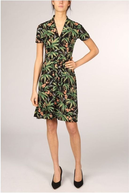 King Louie Dress Emmy Tahiti Black/Ass. Flower