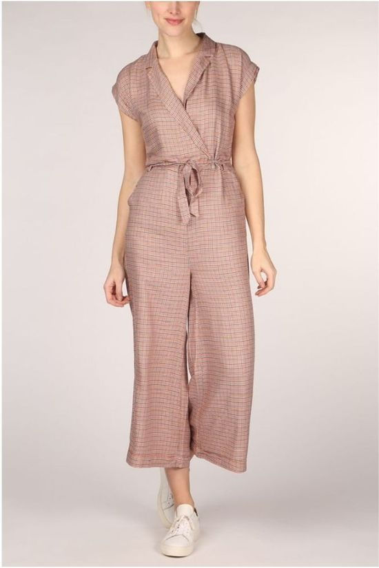 King Louie Jumpsuit Doris Verveine Wit/Lichtroze