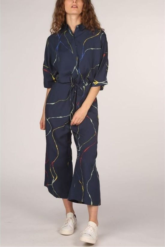 SKFK Jumpsuit Wtr00289 Dark Blue/Assorted / Mixed