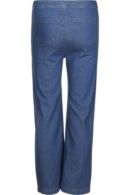 Petit Louie Pantalon Sailor Chambray Denim / Jeans/Bleu Moyen (Jeans)