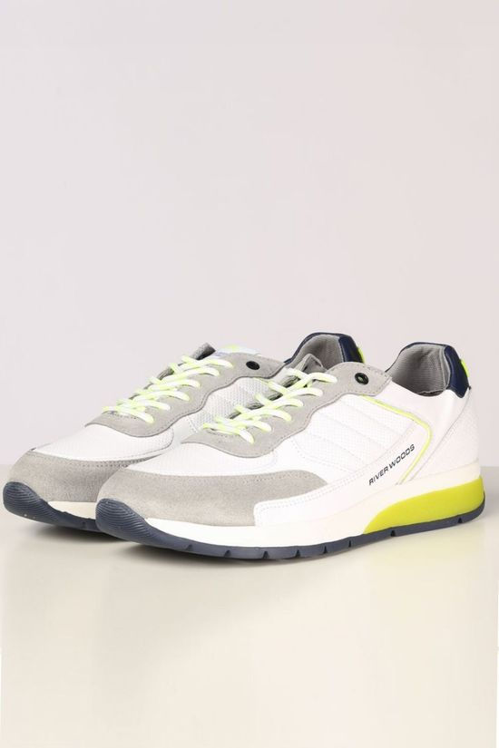 River Woods Sneaker Beta White/Lime Green