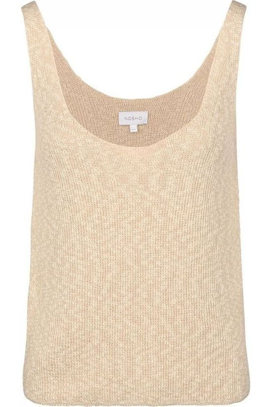 Nosho T-Shirt Top Lore Sand Brown