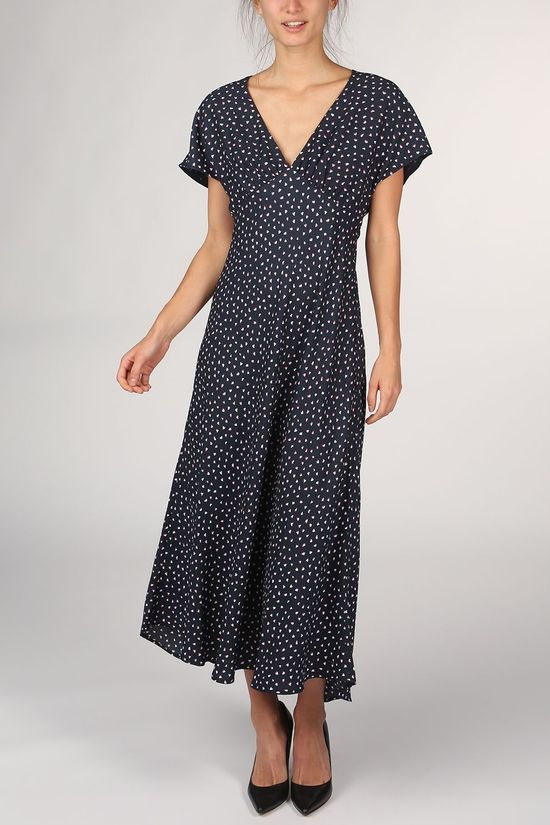 Pepe Jeans Dress Sara Navy Blue/Off White