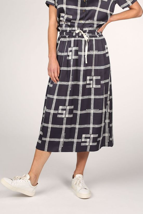 Maison Scotch Skirt 157007 Off White/Navy Blue