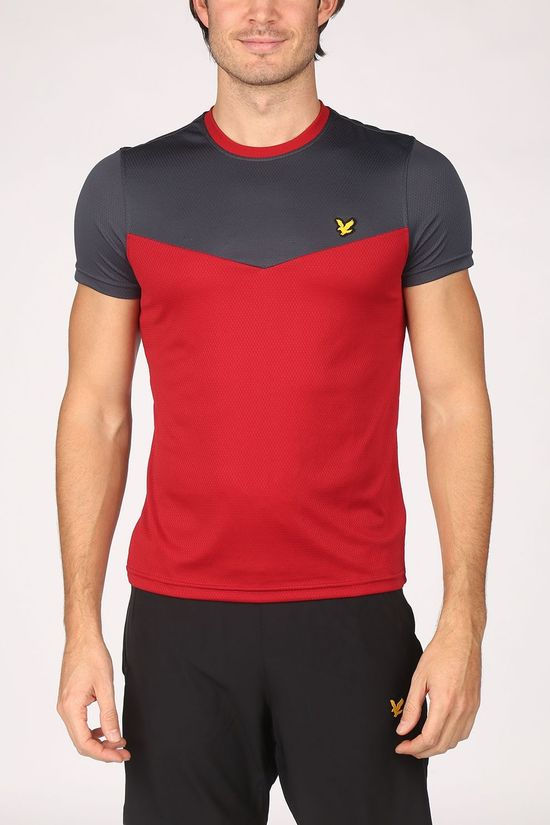 Lyle & Scott T-Shirt Performance Block Middenrood