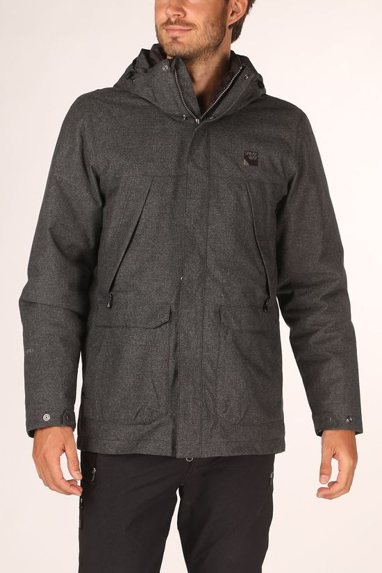 Sprayway Manteau Menno Gore-Tex 3In1 Gris Foncé