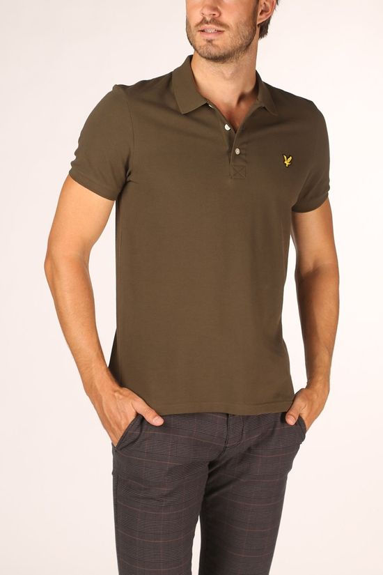Lyle & Scott Polo 2002-Sp400Vtr Donkerkaki
