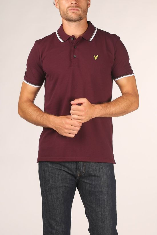 Lyle & Scott Polo 2002-Sp800Vtr Bordeaux / Kastanjebruin