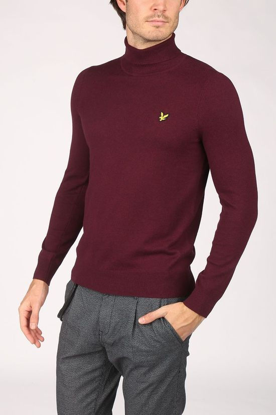 Lyle & Scott Pull 2002-Kn1020V Bordeaux / Marron