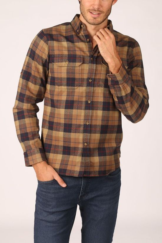 Fjällräven Shirt Sarek Heavy Flannel Sand Brown/Dark Blue