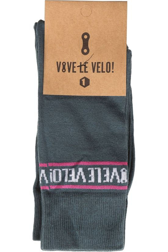 Vive le Velo Sock Bike Socks Duo Petrol/Ass. Geometric