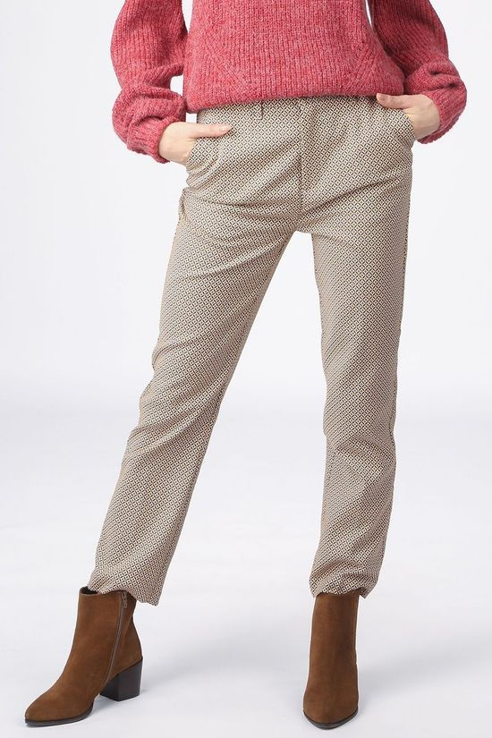 Pepe Jeans Trousers Angie Sand Brown/Dark Yellow