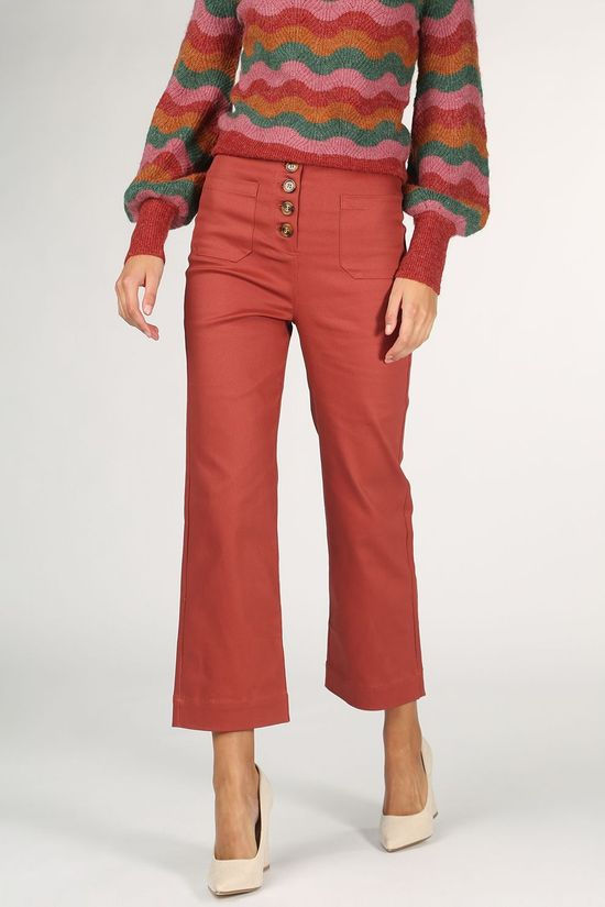 King Louie Broek High Waisted Pocket Pant Sturdy Roest