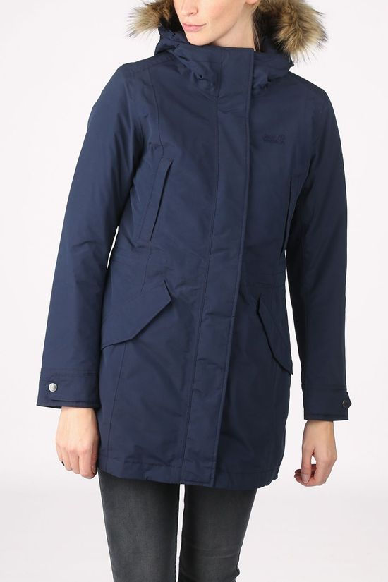 Jack Wolfskin Coat Wildwood Parka Navy Blue
