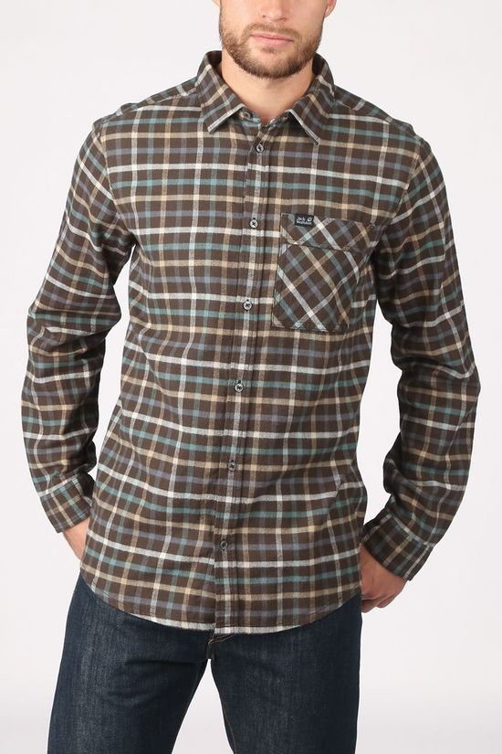 Jack Wolfskin Shirt Fraser Island Dark Brown/Assorted / Mixed