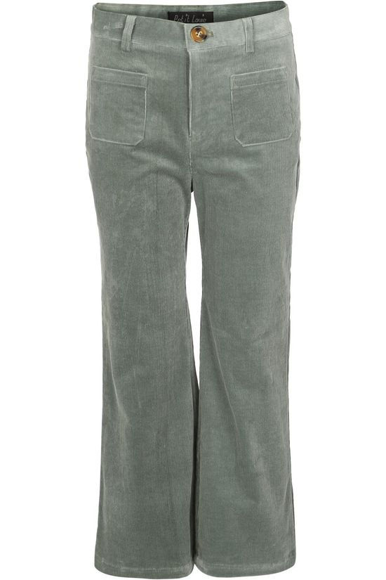 Petit Louie Trouser Garbo Flared Pants Corduroy light green