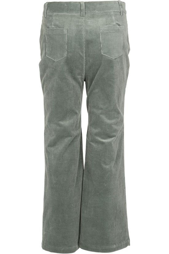 Petit Louie Pantalon Garbo Flared Pants Corduroy Vert Clair