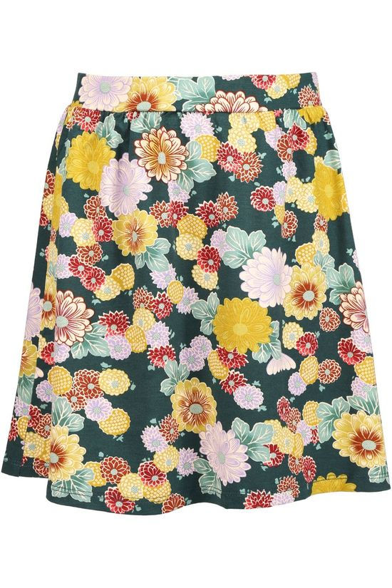Petit Louie Skirt Gail Skirt Kosho Ass. Flower/Mid Green