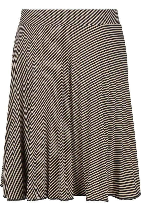 Petit Louie Rok Plisse Skirt Candy Stripe Plisoley Gebroken Wit/Zwart