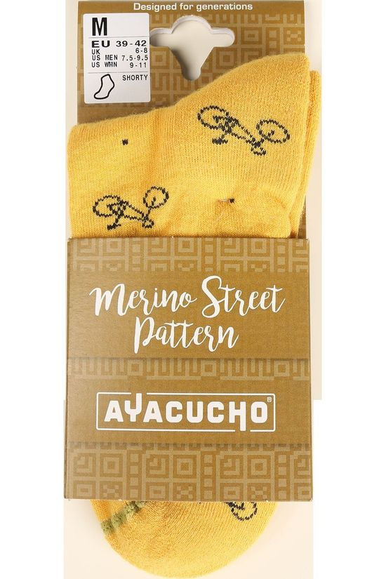 Ayacucho Sock Street Dark Yellow/Navy Blue