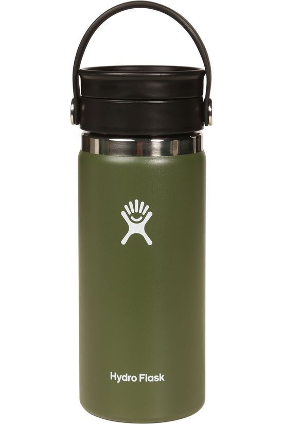 Hydro Flask Drink Bottle 16Oz Wide Mouth Flex Sip mid khaki