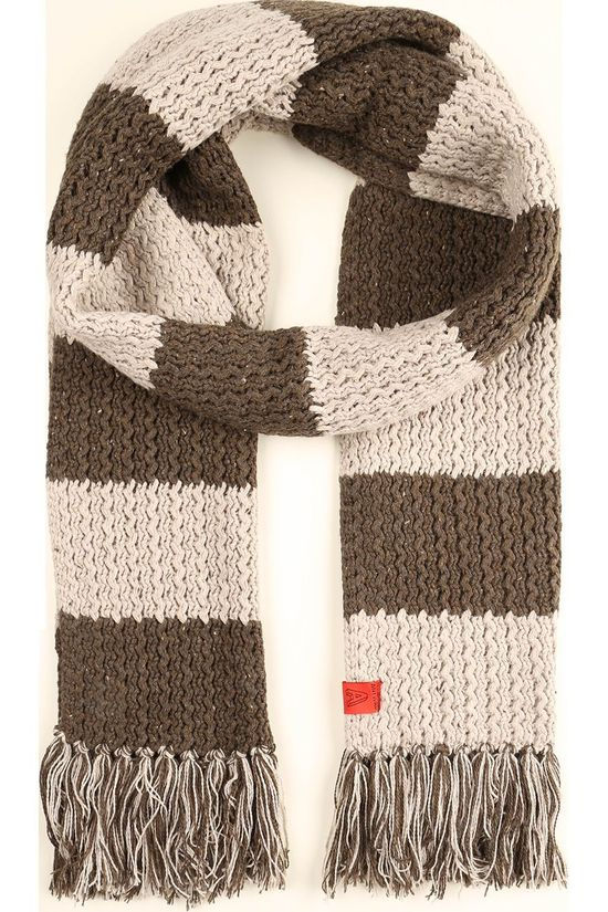 Antwrp Scarf 2002-Bsc004 mid brown/off white