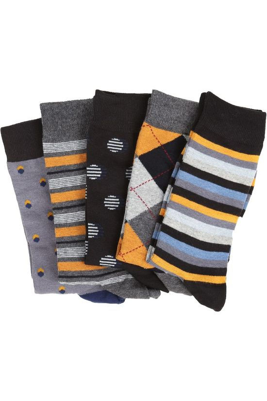 Ben Sherman Sock 2002-Bs-Aw20-Sk123 black/mid yellow