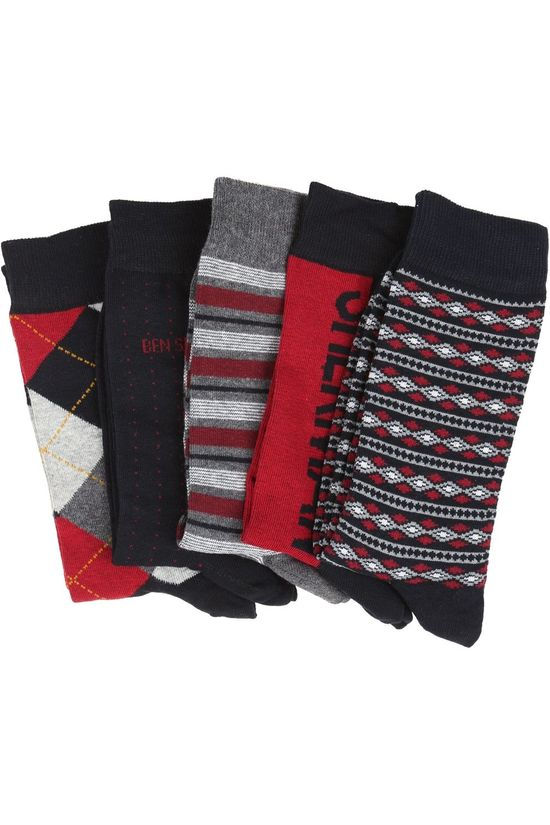Ben Sherman Sock 2002-Bs-Aw20-Sk124 dark blue/mid red