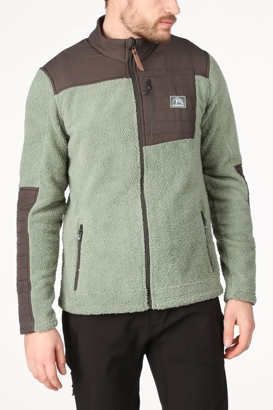 Protest Fleece Adam Fz mid khaki