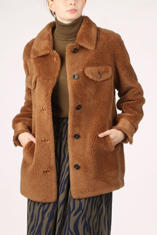 Oakwood Coat Penelope Camel Brown