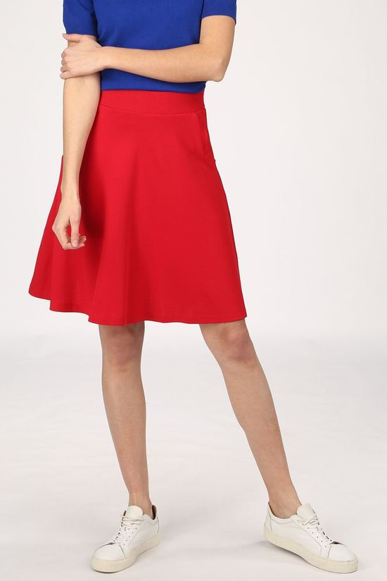 King Louie Skirt Sofia Milano Crepe red