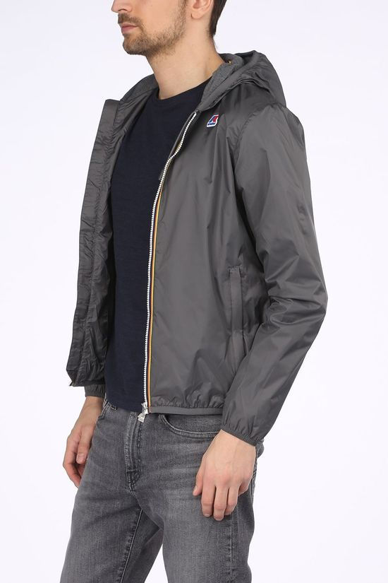 K-Way Manteau Jacques Nylon Jersey Gris Moyen