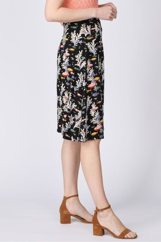King Louie Rok Lori Skirt Big Sur Zwart/Lichtroze